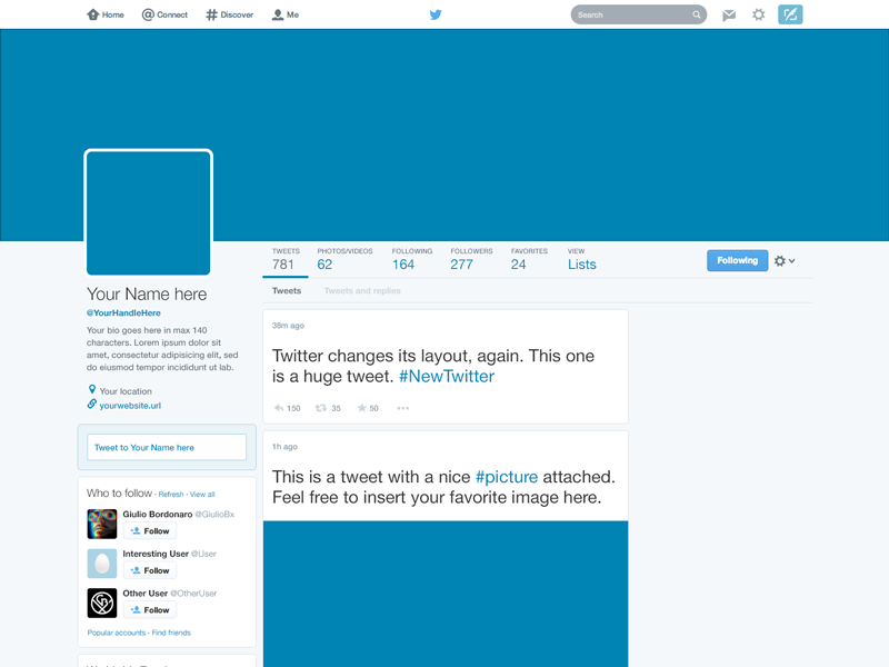11 2011 Twitter PSD Template Images - Twitter Profile Page  Inside Blank Twitter Profile Template Inside Blank Twitter Profile Template