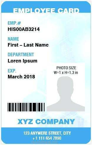 11 Adding Employee Id Card Template In Word for Ms Word by  Inside Employee Card Template Word With Employee Card Template Word