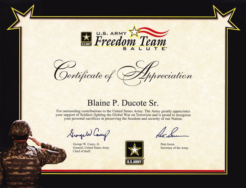 11+ Army Appreciation Certificate Templates - PDF, DOCX  Free  Within Army Certificate Of Completion Template For Army Certificate Of Completion Template