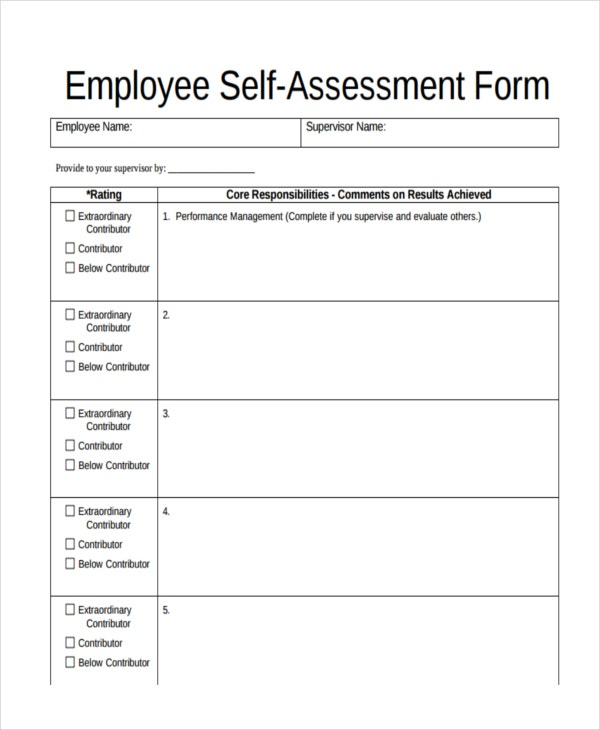 11+ Assessment Form Examples  Free & Premium Templates Inside Blank Evaluation Form Template With Blank Evaluation Form Template