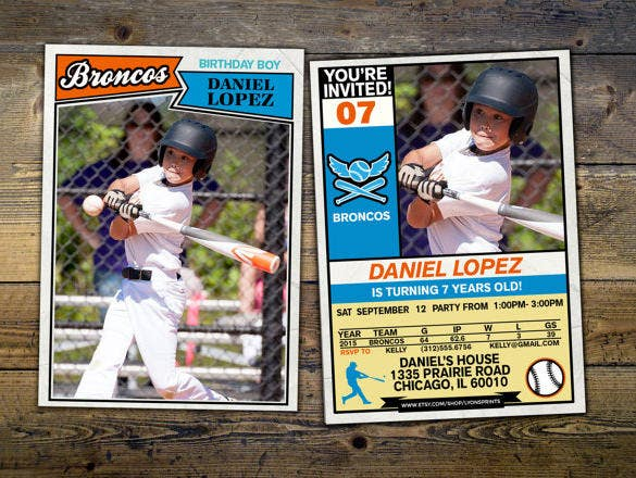 11+ Baseball Card Templates - PSD, AI, EPS  Free & Premium Templates Pertaining To Baseball Card Size Template Inside Baseball Card Size Template