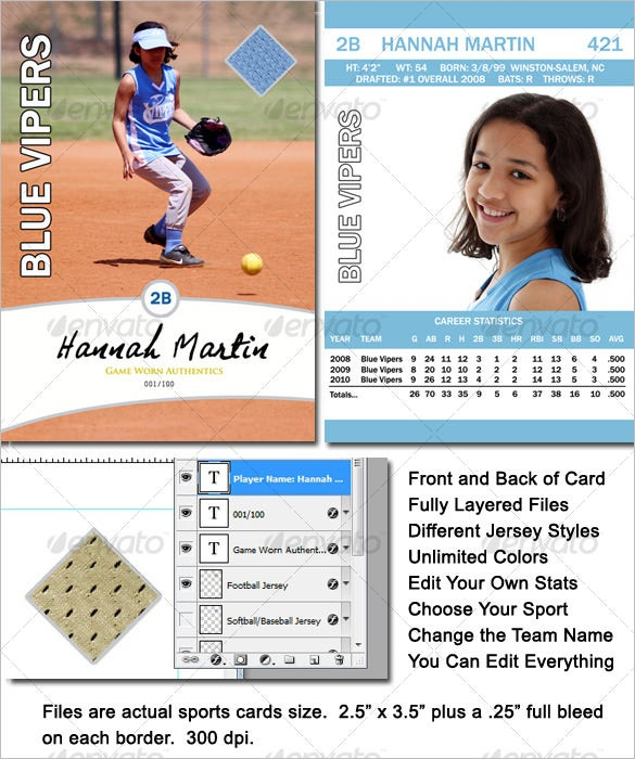 11+ Baseball Card Templates - PSD, AI, EPS  Free & Premium Templates Pertaining To Baseball Card Template Psd Intended For Baseball Card Template Psd