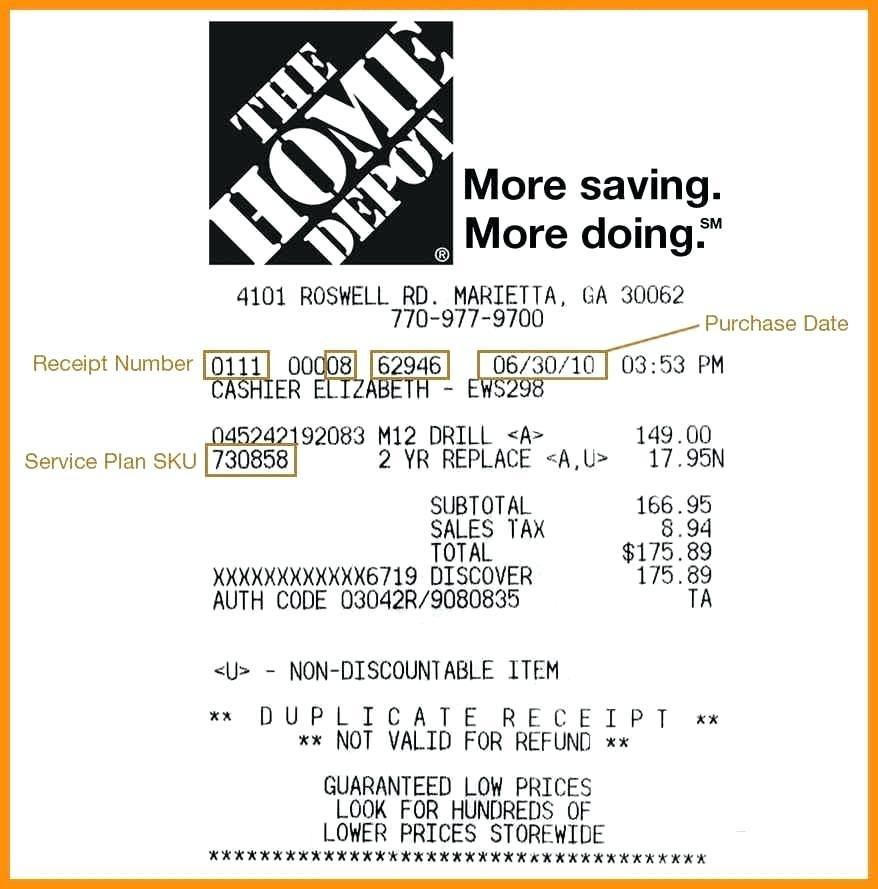 11 Benefits of Using Home Depot Receipt Template  hennessy events Inside Home Depot Receipt Template Throughout Home Depot Receipt Template