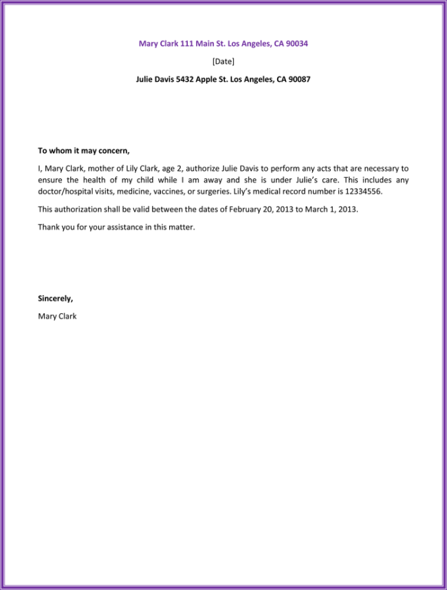 11+ Best Authorization Letter Samples (Formats & Templates) Inside Certificate Of Authorization Template
