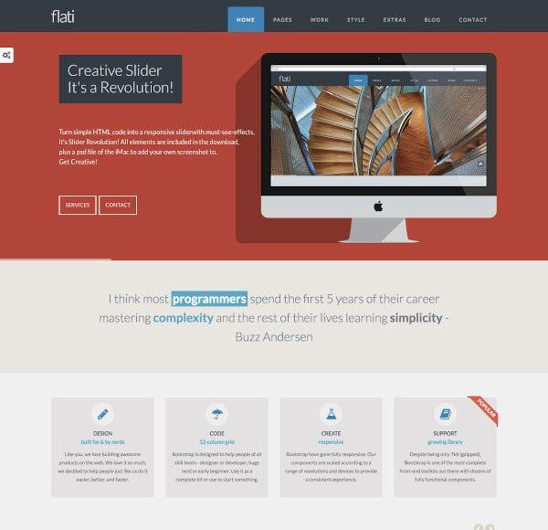 11+ Best Flat Design Website Templates  Free & Premium Templates Within Consider Using Web Design Templates Intended For Consider Using Web Design Templates