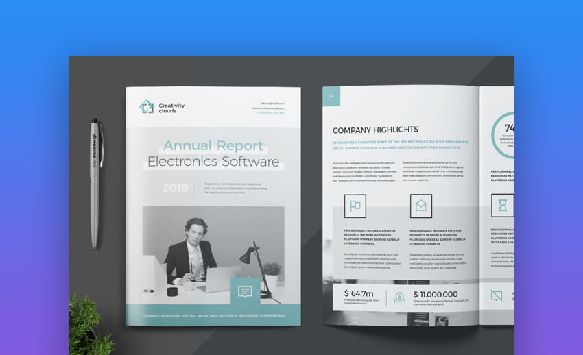 11 Best Free Annual Report Template Downloads 11 (Word Designs  For Good Report Templates Within Good Report Templates
