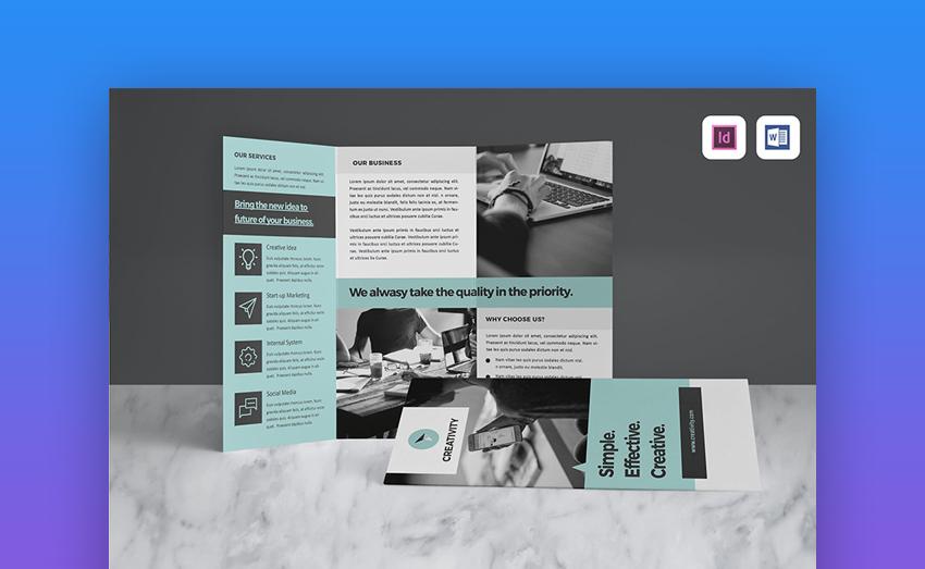 11 Best Free Brochure Templates for Google Docs & MS Word  Within Google Drive Brochure Templates Within Google Drive Brochure Templates