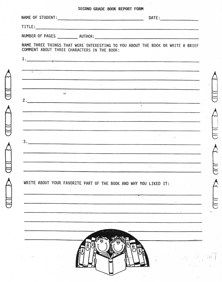 11 Best Free Printable Book Report Forms - printablee Inside Second Grade Book Report Template