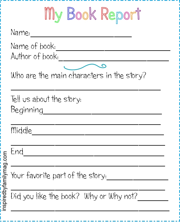 11 Best Free Printable Book Report Forms - printablee Intended For Second Grade Book Report Template