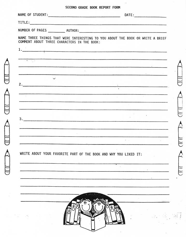 11 Best Free Printable Book Report Forms - printablee Regarding 6th Grade Book Report Template