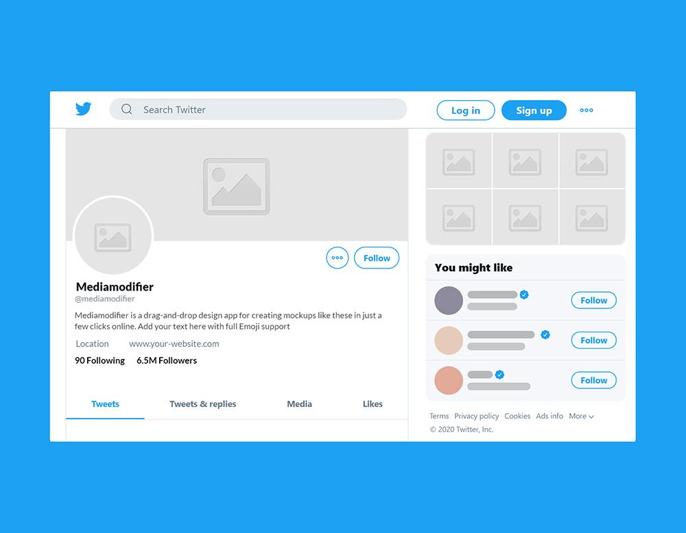 11 Best Instagram and Social Media Mockups for 11  Mediamodifier In Blank Twitter Profile Template