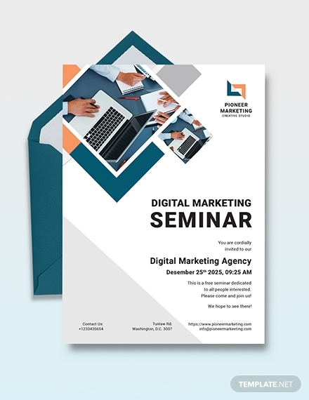 11+ Best Invitation Templates & Examples in Publisher  Examples Intended For Seminar Invitation Card Template Intended For Seminar Invitation Card Template