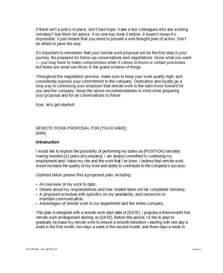 11 Best Job Proposal Templates (Free Download) ᐅ TemplateLab Pertaining To New Position Proposal Template Intended For New Position Proposal Template
