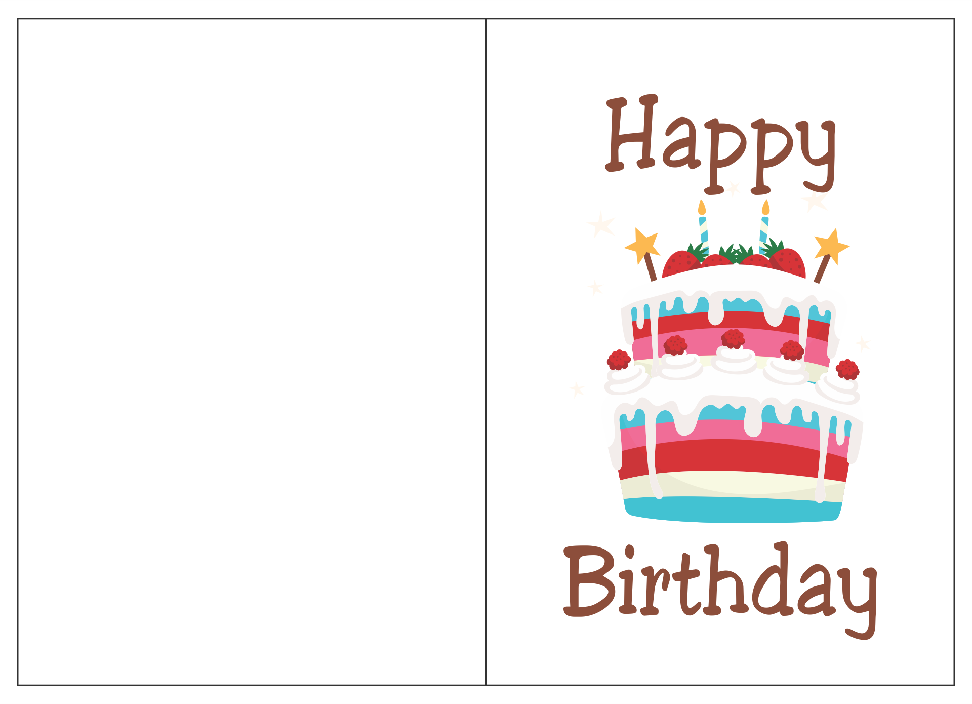 11 Best Printable Folding Birthday Cards For Wife - printablee Intended For Foldable Birthday Card Template