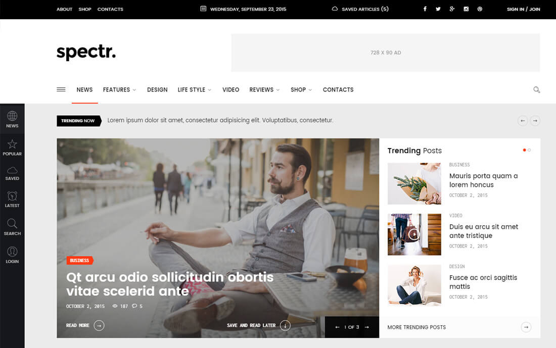 11 Best Responsive News Website Templates 11 - Colorlib Intended For Consider Using Web Design Templates Within Consider Using Web Design Templates