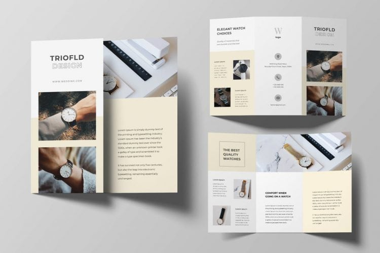 11+ Best Tri-Fold Brochure Templates for Word & InDesign - Theme  In 6 Panel Brochure Template With 6 Panel Brochure Template