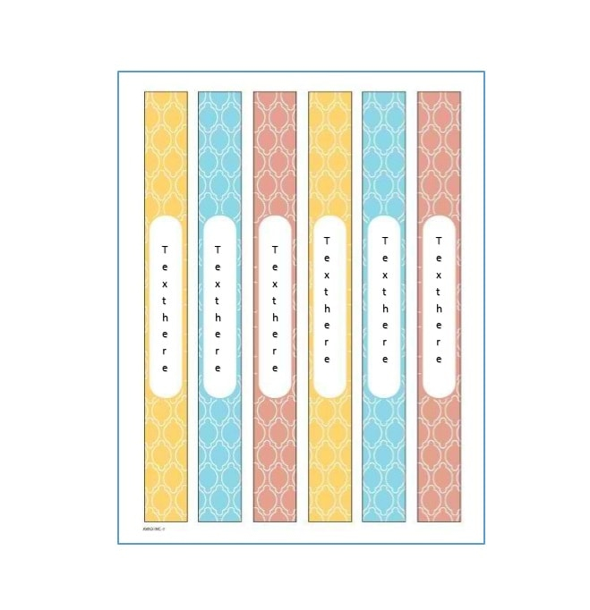 11 Binder Spine Label Templates in Word Format - TemplateArchive Regarding Binder Spine Template Word For Binder Spine Template Word