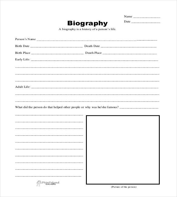 11+ Biography Templates - DOC, PDF, Excel  Free & Premium Templates In Free Bio Template Fill In Blank With Regard To Free Bio Template Fill In Blank