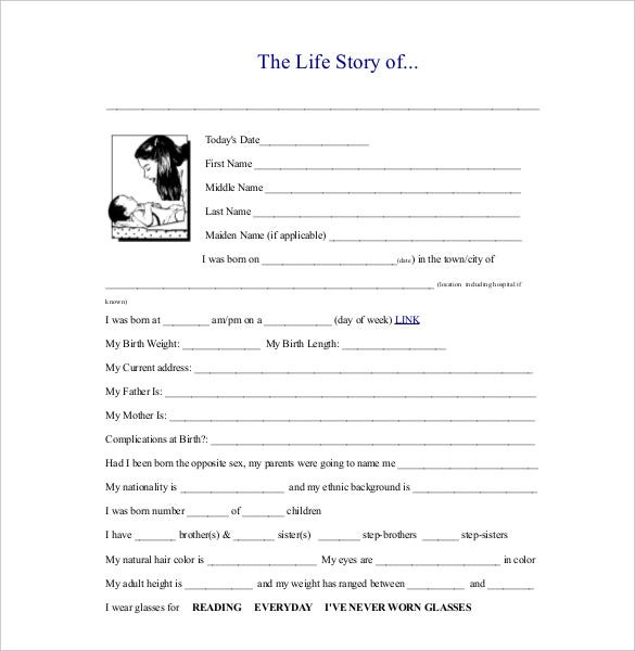 11+ Biography Templates - DOC, PDF, Excel  Free & Premium Templates Within Free Bio Template Fill In Blank In Free Bio Template Fill In Blank