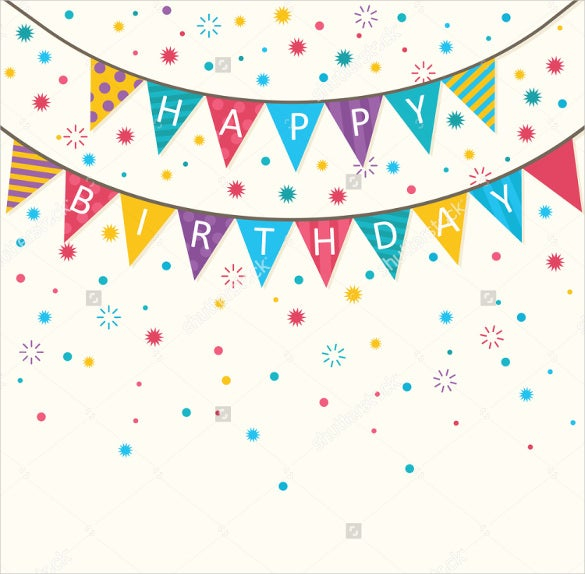 11+ Birthday Banner Templates – Free Sample, Example, Format  Regarding Free Happy Birthday Banner Templates Download