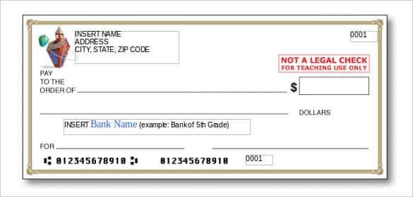 11+ Blank Check Template - DOC, PSD, PDF & Vector Formats  Free  In Editable Blank Check Template Intended For Editable Blank Check Template