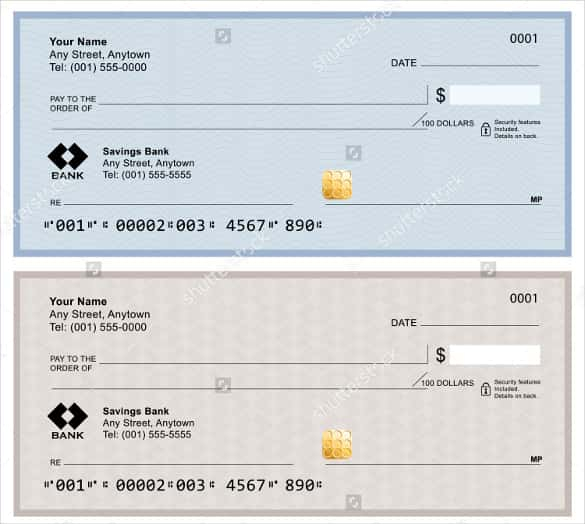 11+ Blank Check Template - DOC, PSD, PDF & Vector Formats  Free  With Cashiers Check Template With Cashiers Check Template