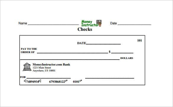 11+ Blank Check Template - DOC, PSD, PDF & Vector Formats  Free  Within Cashiers Check Template With Regard To Cashiers Check Template
