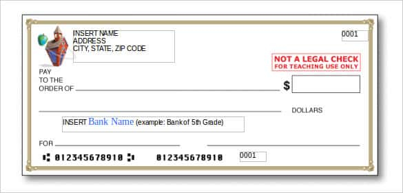11+ Blank Check Template - DOC, PSD, PDF & Vector Formats  Free  Within Large Blank Cheque Template For Large Blank Cheque Template