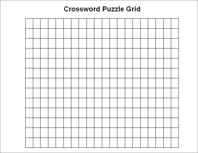 11+ Blank Crossword Template - Crossword Template  Free & Premium  Within Blank Word Search Template Free