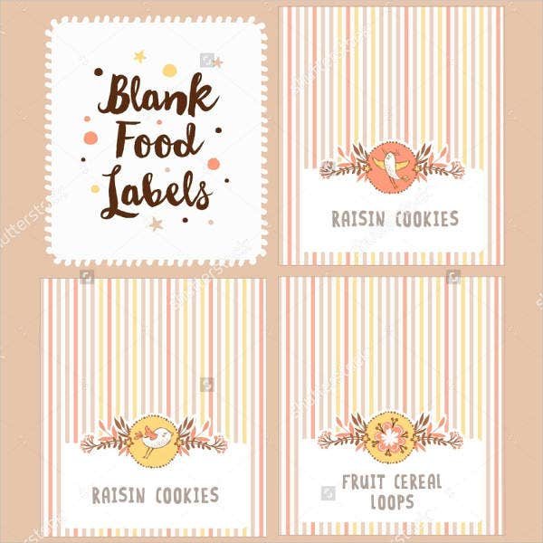 11+ Blank Food Label Template - Free Printable PSD, Word, PDF  With Regard To Blank Food Label Template For Blank Food Label Template