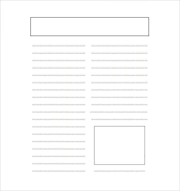 11+ Blank Newspaper Templates – Free Sample, Example, Format  For Blank Newspaper Template For Word With Blank Newspaper Template For Word