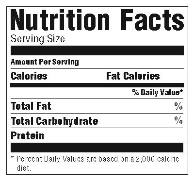 11 Blank Nutrition Facts Label - Labels Database 11 With Regard To Blank Food Label Template Regarding Blank Food Label Template
