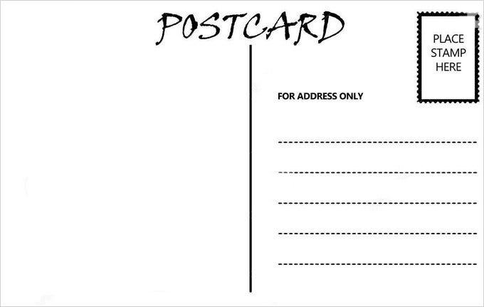 11+ Blank Postcard Templates - PSD, Vector EPS, AI  Free  Pertaining To Free Blank Postcard Template For Word Throughout Free Blank Postcard Template For Word