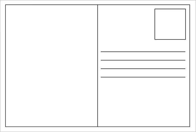 11+ Blank Postcard Templates - PSD, Vector EPS, AI  Free  Regarding Free Blank Postcard Template For Word For Free Blank Postcard Template For Word