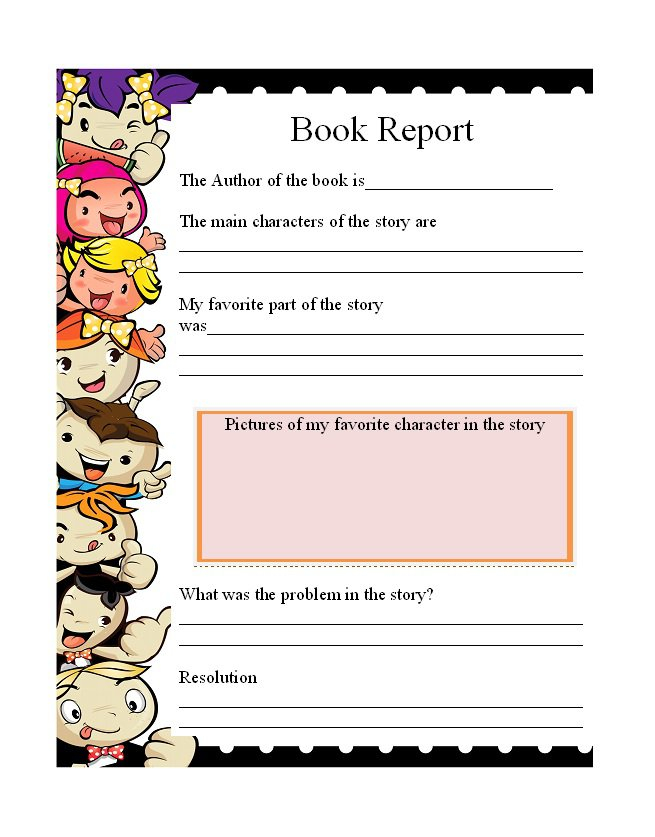 11 Book Report Templates & Reading Worksheets - Free Template  Intended For Story Report Template Intended For Story Report Template