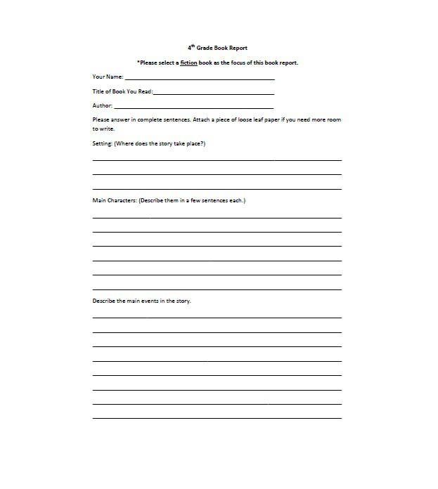 11 Book Report Templates & Reading Worksheets - Free Template  With Regard To Story Report Template With Regard To Story Report Template
