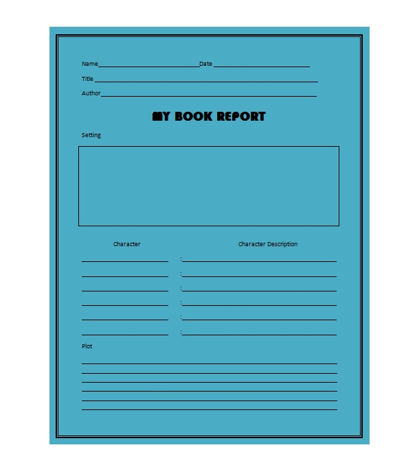 11 Book Report Templates & Reading Worksheets - Free Template  Within Middle School Book Report Template In Middle School Book Report Template