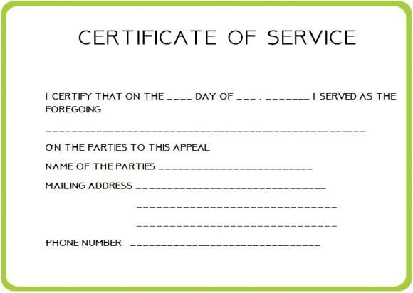 11 Certificate of Service Templates for Employees (Formats  Regarding Certificate Of Service Template Free In Certificate Of Service Template Free