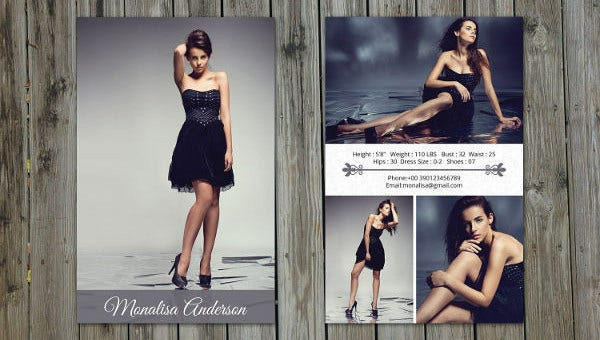 11+ Comp Card Templates - Free Sample, Example, Format Download  With Free Model Comp Card Template Psd Inside Free Model Comp Card Template Psd