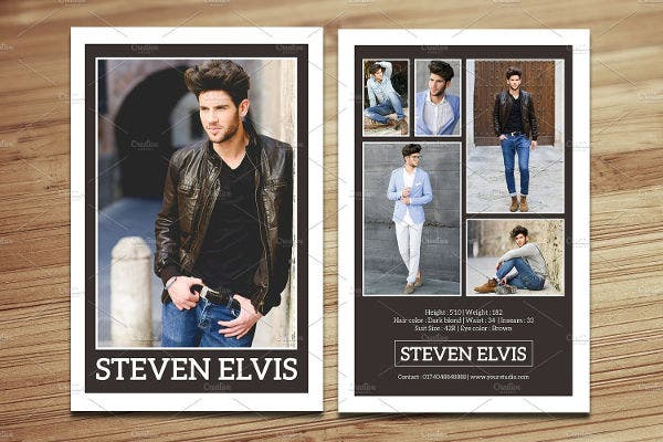 11+ Comp Card Templates - Free Sample, Example, Format Download  With Regard To Free Model Comp Card Template Psd With Regard To Free Model Comp Card Template Psd