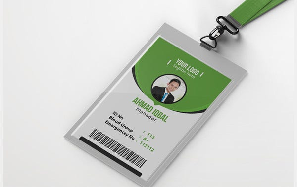 11+ Company ID Card Templates in AI  Word  Pages  PSD  Inside Employee Card Template Word For Employee Card Template Word