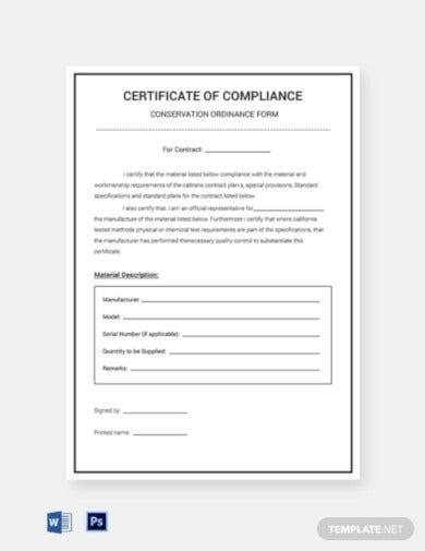 11+ Compliance Certificate Templates - Word, PSD, PDF  Free  With Regard To Certificate Of Compliance Template With Regard To Certificate Of Compliance Template