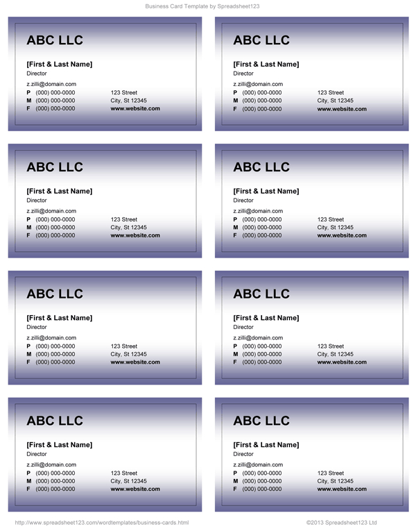 11 Create Business Card Templates Docx for Ms Word by Business  Intended For Business Cards Templates Microsoft Word In Business Cards Templates Microsoft Word