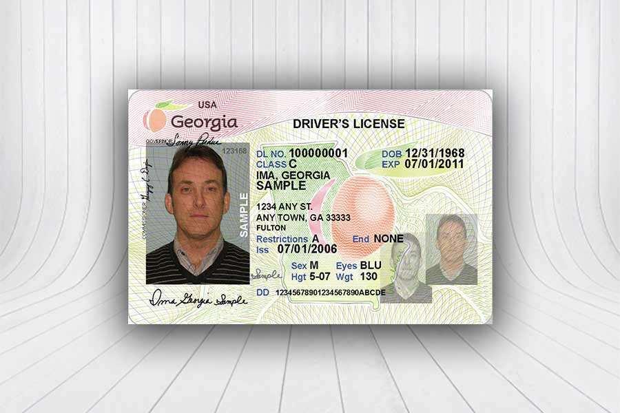 11 Create Georgia Id Card Template PSD File by Georgia Id Card  For Georgia Id Card Template With Georgia Id Card Template