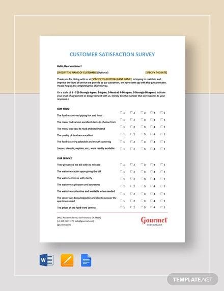 11+ Customer Satisfaction Survey Templates – Free Word, PDF Format  Intended For Customer Satisfaction Report Template Pertaining To Customer Satisfaction Report Template