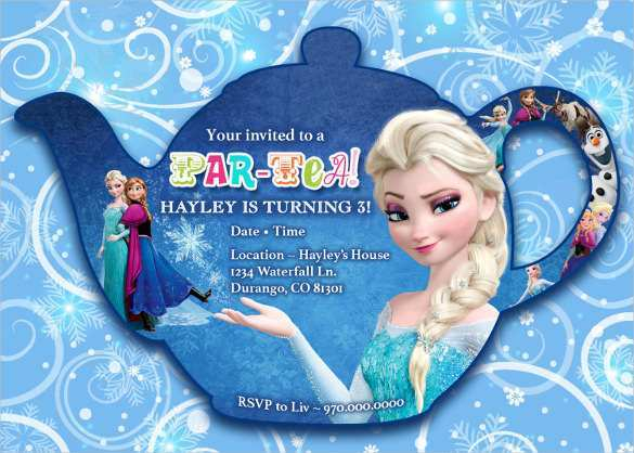 11 Customize Our Free Frozen Birthday Invitation Template for Ms  Inside Frozen Birthday Card Template Pertaining To Frozen Birthday Card Template