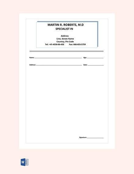 11+ Doctor Prescription Templates - PDF, DOC  Free & Premium  In Blank Prescription Pad Template Within Blank Prescription Pad Template