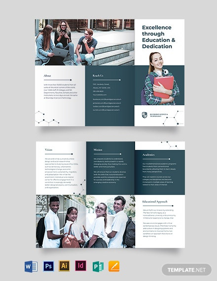 11+ Education Tri Fold Brochures – Design, Templates  Free  Intended For Brochure Templates For School Project