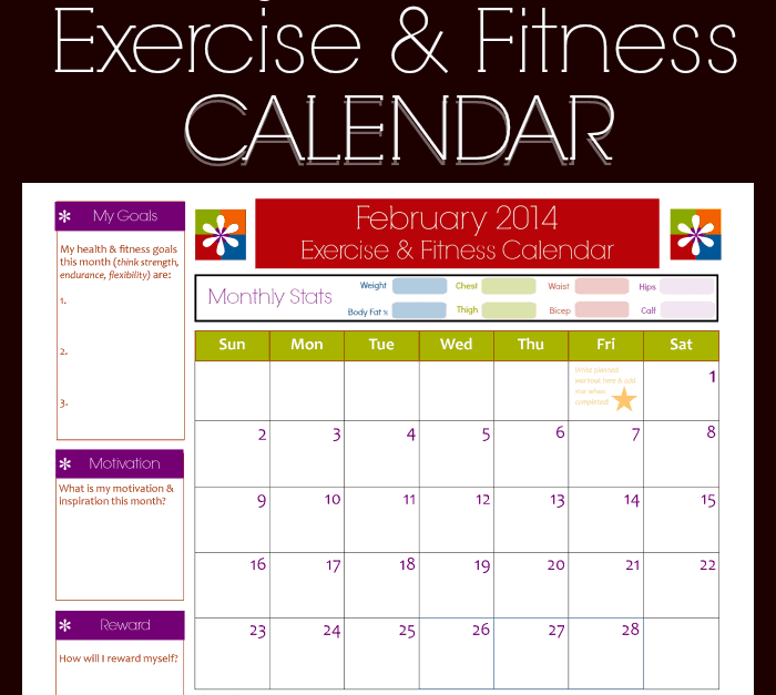 11+ Fitness Calendar Templates - Excel Templates Pertaining To Blank Workout Schedule Template Intended For Blank Workout Schedule Template