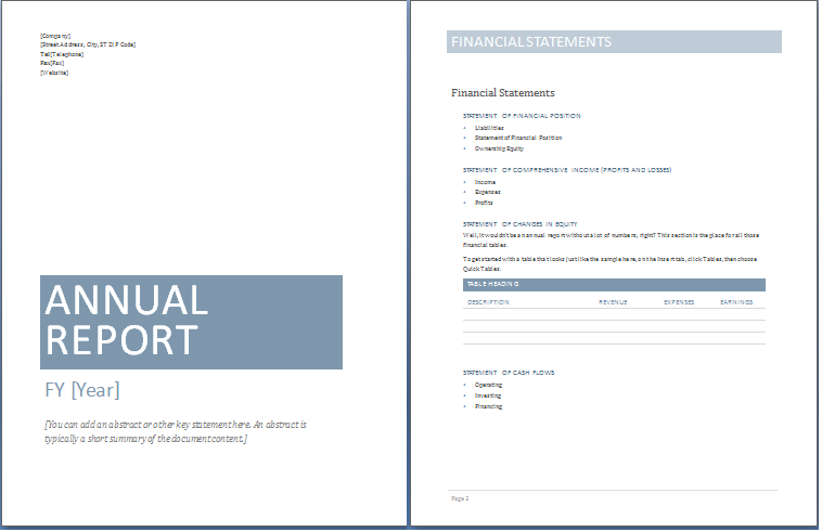11 Free Annual Business Report Templates in MS Word Templates Within Chairmans Annual Report Template Within Chairmans Annual Report Template